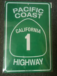 PCH Pacific Coast Highway California US 1 metal sign