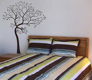 Tree and bird wall decal deco art sticker mural ebay for Big tree with bird wall decal deco art sticker mural