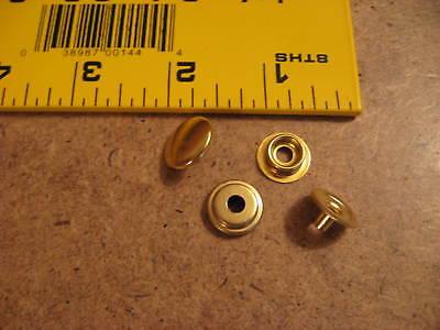 C.s. Osborne K 5717-20-c 24l Brass Plated Snaps (box Of 100 Sets)
