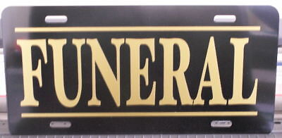 Funeral License Plate Rat Rod Hearse Cadillac Gasser