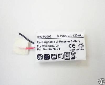 Spare Battery 3.7v 120mah 66278-01 For Plantronics Cs70 Cs70n Awh75n