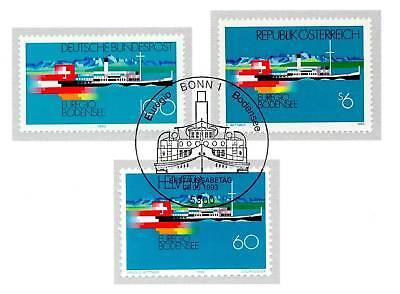 Brd 1993: Bodensee Nr. 1678 Und Die Parallelausgaben Mit Ersttagsstempeln! 1906 Verkaufspreis