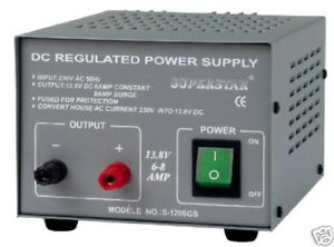 6A - 8A 13.8V 12V POWER SUPPLY CB Ham Amateur psu