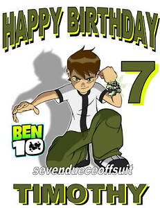 Image Is Loading NEW PERSONALIZED CUSTOM BEN 10 BIRTHDAY T SHIRT
