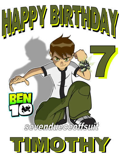 NEW PERSONALIZED CUSTOM BEN 10 BIRTHDAY T SHIRT PARTY FAVOR GIFT