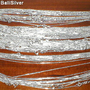 50-pieces-16-18-20-Sterling-SILVER-925-0-9mm-BOX-015-CHAIN-NECKLACES-Lot