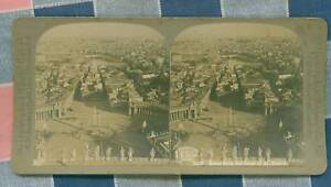 Old-CH-Graves-Stereoview-Rome-from-the-Dome-St-Peters