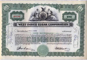 West-Indies-Sugar-Corporation-Stock-Certificate