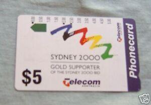 2000-SYDNEY-OLYMPICS-5-AUSTRALIAN-PHONECARD