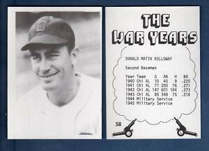 WW2-World-War-2-Years-58-DONALD-M-034-DON-034-KOLLOWAY-White-Sox-1980-TCMA