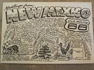 Late-Bob-Waldmire-Artist-Route-66-Post-Card-NEW-MEXICO