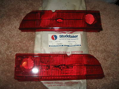 Nos 1965 Studebaker Lark taillight lens set, show quality!