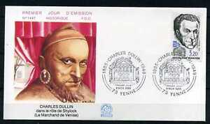 FDC-premier-jour-Charles-Dullin-9-11-85-timbre-2390