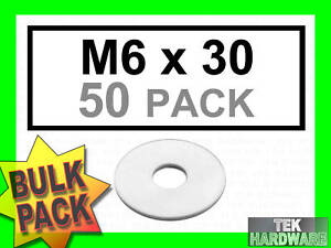Stainless-Steel-Penny-Washers-M6-x-30mm-50-Pack