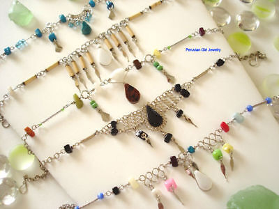 30 Anklets Natural Stone Peruvian Jewelry Foot Bracelet