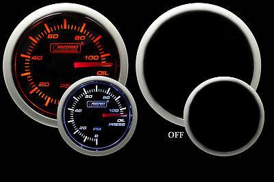 Oil Pressure Gauge-Electrical-Amber/White 52mm Prosport