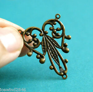 Top-Quality-4pcs-Antique-Brass-Filigree-Connector