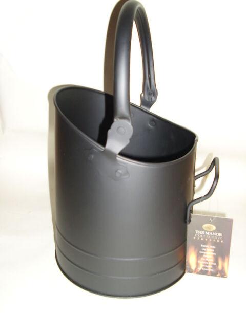 New Manor Black Coal Scuttle Bucket Hod Flanders 1334