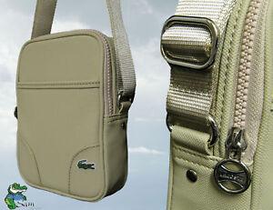 New Authentic LACOSTE Cross-over Unisex Shoulder Bag ED Classic 3 Sand