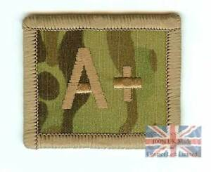 NEW-Crye-Multicam-Hook-Sticky-Backed-BLOOD-GROUP-PATCH-A-POS-UBACS