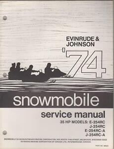 1974 EVINRUDE JOHNSON SNOWMOBILE 35 HP SERVICE MANUAL