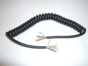 OPEK MC8-6 3FT REPLACEMENT HAND MIKE MICROPHONE CABLE COILED CORD ...