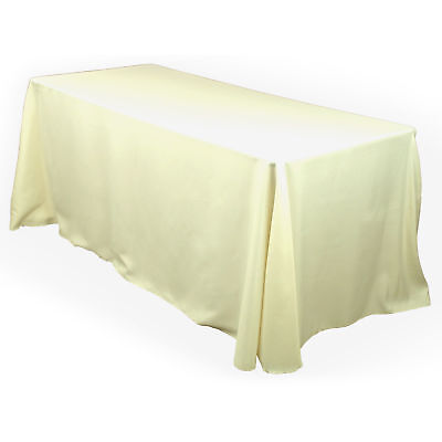 10 rectangle 90 x132 polyester tablecloths 6ft banquet for 10 ft table cloth