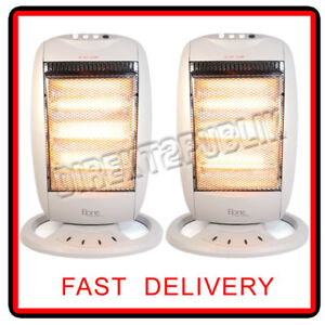 2 X HALOGEN HEATER 400W/800W/1200W THREE POWER SETTINGS