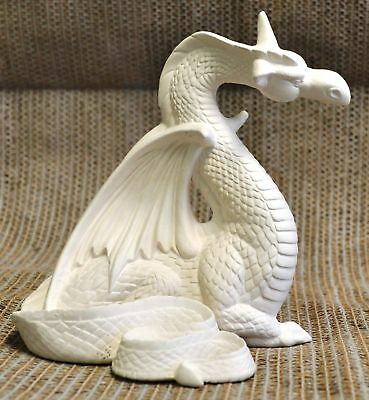 Ceramic Bisque Dragon from Kimple Mold 3018 U-Paint Ready To Paint