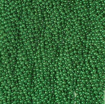 72 Green Mardi Gras Gra Beads Necklaces Party Favors 6 Dozen Lot