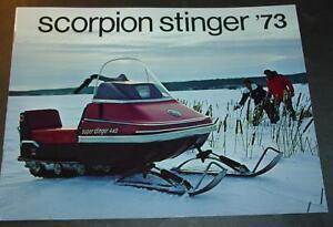 VINTAGE 1973 SCORPION STINGER SNOWMOBILE  BROCHURE