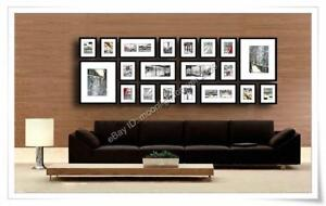 20 Pcs 220 x 80 cm Photo Picture Frame Wall Set Black