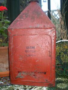 Mega-RARE-annees-1930-GRAND-Germ-americain-boite-d-039-huile