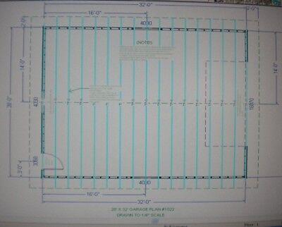 28 39 x 32 39 garage shop plans materials list blueprints plan for 28 x 32 garage plans