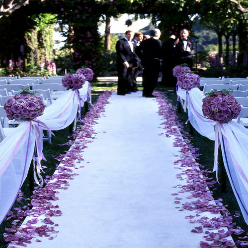 100 Ft Fine Wedding Satin Aisle Runner 22 Colors