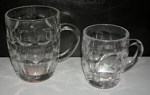 NEW-4-Traditional-Glass-Pint-Tankards-Dimpled