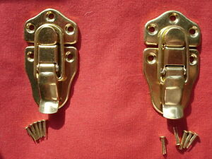 2 Guitar/Instrument Case Latch/latches-GOLD-for USA Brands-Acoustic/Electric