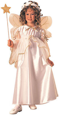 Angel White Christmas Parade Play Halloween Dress Up Child Costume w/Wings - Halloween Dress Up Parade