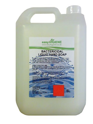5 Litre Liquid Hand Soap Anti Bacterial Pearlised