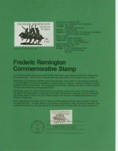 1934-18c-Frederic-Remington-USPS-8126-Souvenir-Page