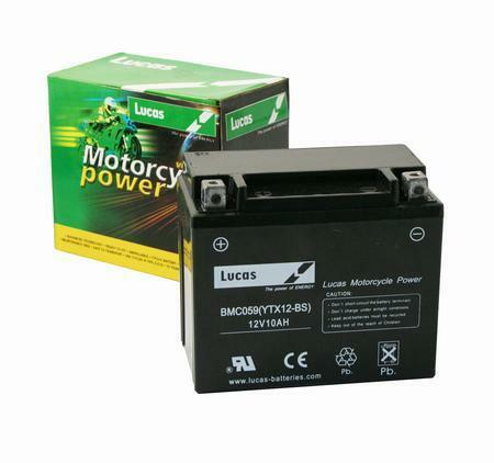 YTX12-BS Lucas Motorcycle Motorbike Battery CTX12S YTX12S BS