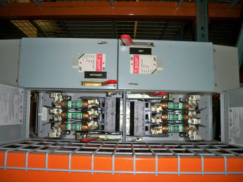 Ge Ads32100hd 100a Twin 240v 3ph Fusible Panelboard Switch Unit Reconditioned