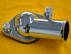 Sbc Chrome Water Neck 15 Degree angle bbc Chevy Housing  Small Block Big Block