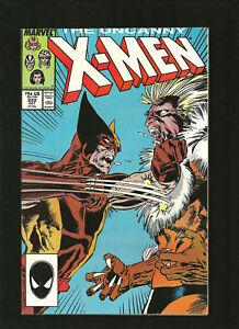 Uncanny-X-Men-222-NM-Wolverine-Sabretooth-1987