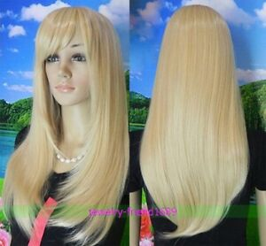 NEW-LONG-BLONDE-MIX-STRAIGHT-WOMEN-WIG-WIG