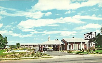 "Perry GA ""The Crossroads Motel & Restaurant"" Postcard  Georgia *FREE US Shipping"