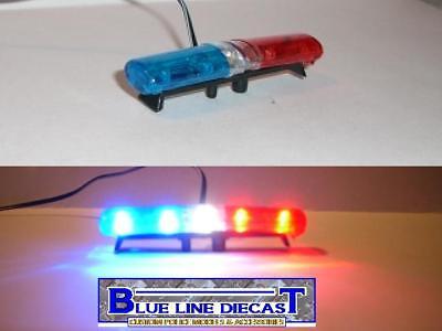1/24 Scale Custom Diecast Police Model Flashing Led Lightbar - Style 13 - Toy