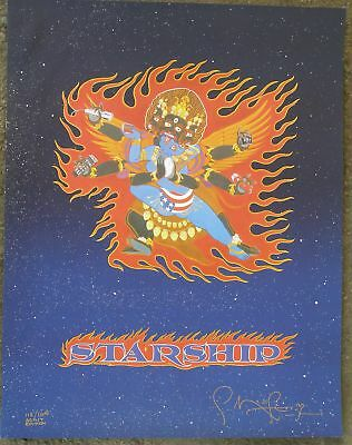 Jefferson STARSHIP Poster by Mouse, Signed, numbered.