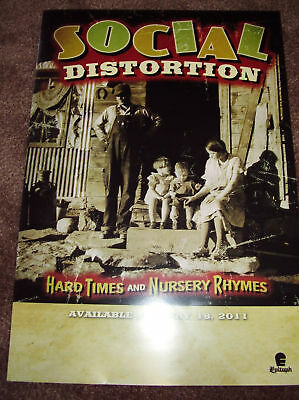 SOCIAL DISTORTION New 2011 PROMO POSTER 4 Hard times and nursery rhymes CD