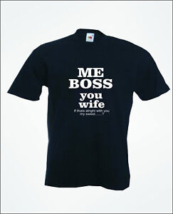 Image Is Loading Me Boss Wedding Stag Groom Bride Mens Funny